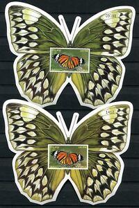 Laos-Lao-2003-Schmetterlinge-Butterflies-Papillon-Farfalla-Block-191-A-B-MNH