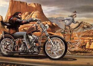 art print poster canvas ghost rider david mann cult biker ebay