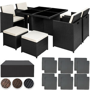 Set di mobili da giardino poli rattan arredamento 4 sedie for Set mobili da giardino offerte