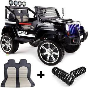 jeep 4x4 off road 4 motoren kinderauto kinderfahrzeug kinder elektroauto schw ebay. Black Bedroom Furniture Sets. Home Design Ideas