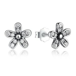 6db9f3482 New Dazzling Daisy Earrings Stud Flower 100% 925 Sterling Silver ...