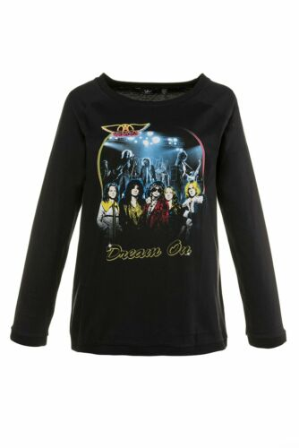 ULLA POPKEN Aerosmith-Shirt Dream On schwarz NEU