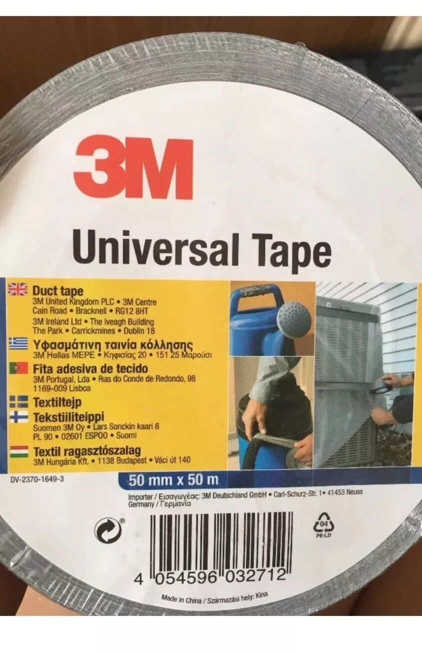 f583cf7a6bb0 2x 50m X 50mm Black 3m Universal Tape for sale online