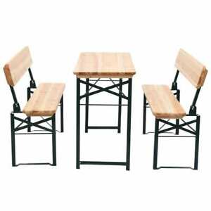 vidaXL-Beer-Table-with-2-Benches-118cm-Fir-Wood-Foldable-Outdoor-Garden-Patio