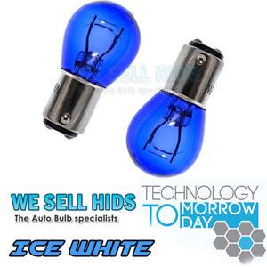 2x-1157-BAY15D-380-P21-5W-Super-White-Daytime-Running-Light-DRL-Blue-Glass-Bulbs
