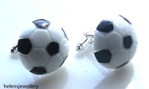 FREE GIFT BAG GORGEOUS HANDMADE LARGE FOOTBALL CUFFLINKS