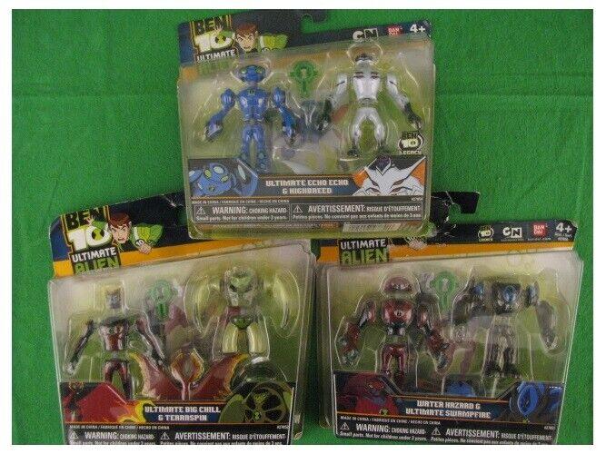 NEW BEN 10 Ultimate Alien  LOT of 3 - 6 Figurines in all