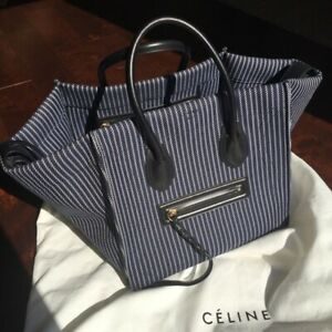 Celine-Navy-Striped-Canvas-Phantom-Medium-Restored-and-cleaned-by-Leather-spa