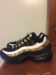 reputable site 322f3 30a3f Details about New Nike Air Max 95 OG Size 7 Mens / Womens 8.5 Sneaker  AT2865 002 Black Gold