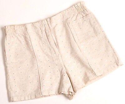 Importato Dall'Estero Short Vintage BrodÉ Lin/coton Marque Ainsi Soit Toi Mini Short AnnÉes 80