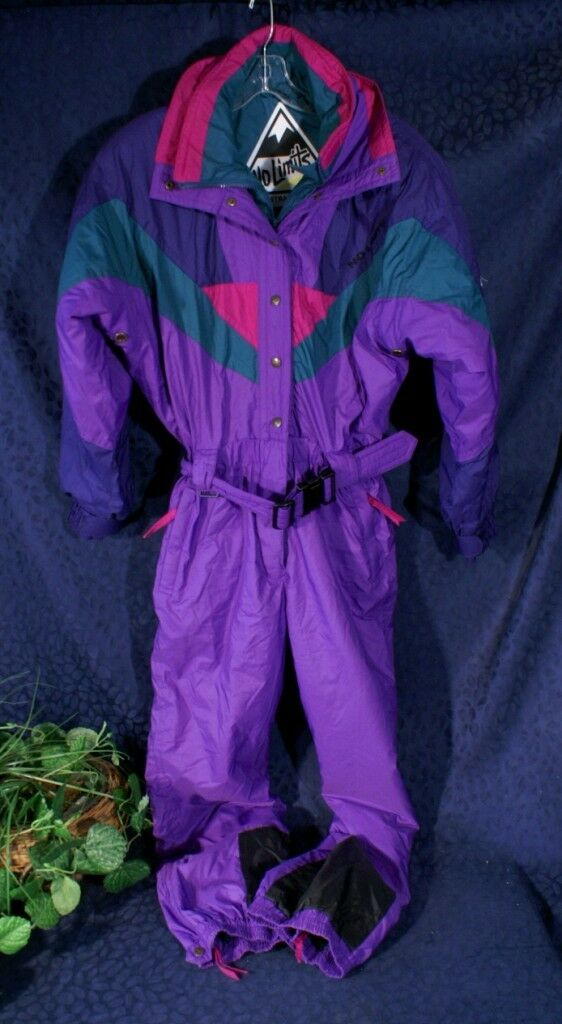 Nice NO LIMITS An Australian Brand Teal Teal Teal Navy Purple Ski Snowmobile Snowsuit  10 b69362
