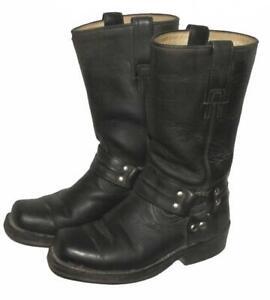 PARAISO-BOOTS-Damen-Western-Stiefel-Biker-Lederstiefel-in-schwarz-ca-35-5