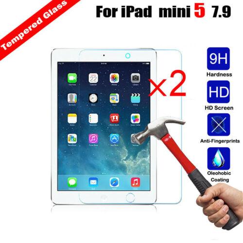 2Pcs Tempered Glass Screen Protector For iPad mini 5 7.9 A2133 A2124 A2126 A2125