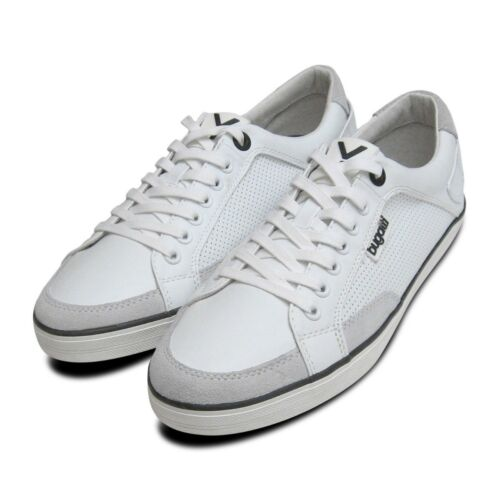 de de de para hombre deporte en Bugatti blanco diseño Sneakers cuero Zapatillas f4EBxqHH