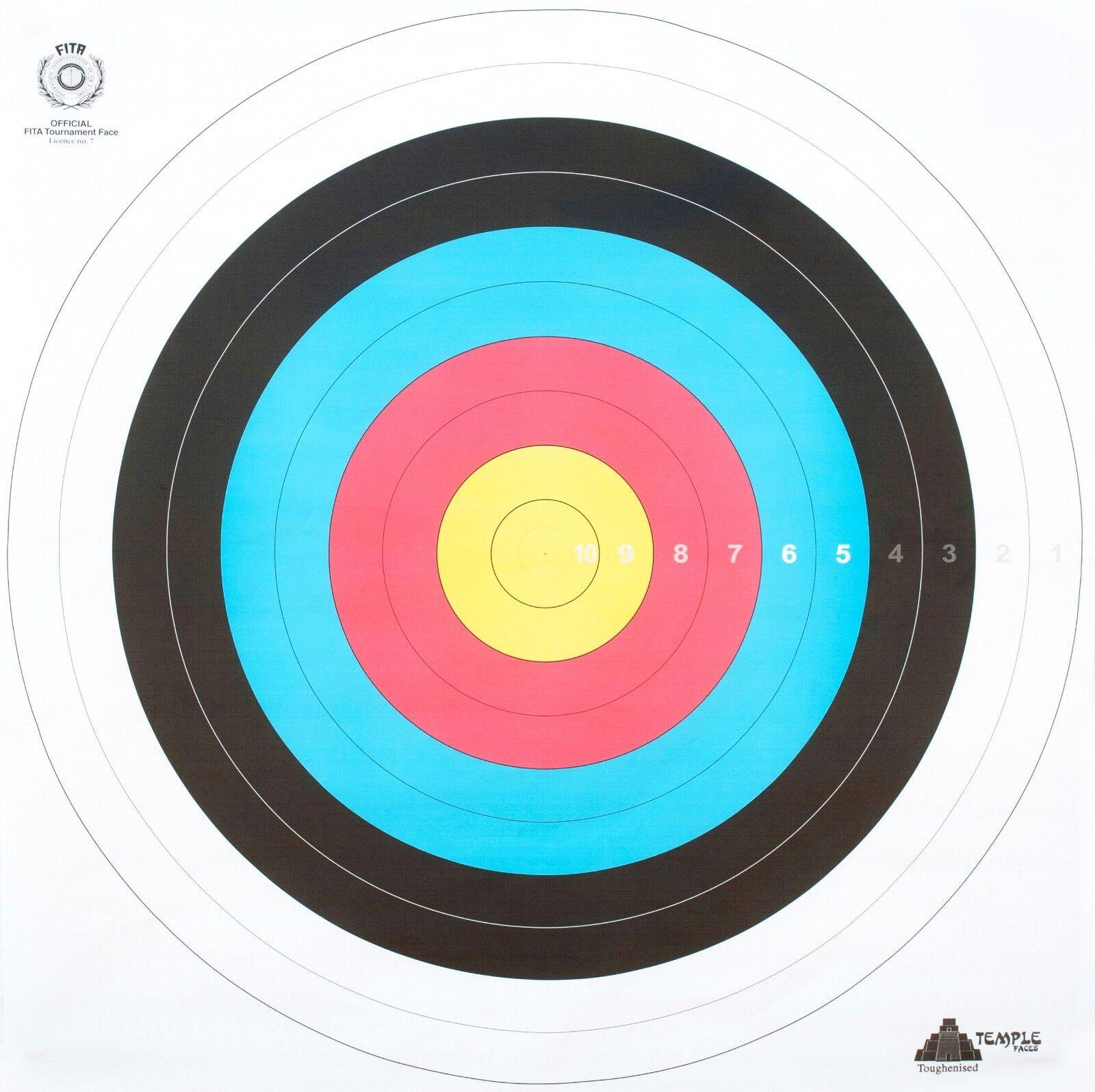 Jeu de 12 cibles anglaises en papier renforcé l'arc pour tir à l'arc renforcé -Dimensions 60x60 ceace2
