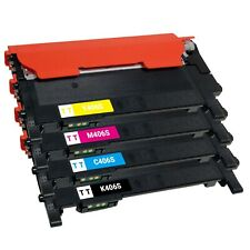 4 x CLT-K406S CLT-C406S CLT-M406S CLT-Y406S Toner Cartridge for Samsung C460FW