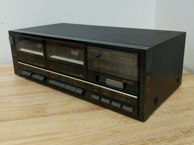 Vintage Sanyo RD W686  Dual Tape Cassette Deck *UNTESTED*