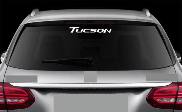 Rear window sticker fits hyundai tucson vinyl decal emblem sticker logo rw27