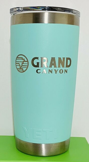 YETI RAMBLER 20 oz TUMBLER - Mug Slider Lid Seafoam Grand Canyon Hot Or Cold