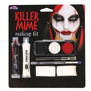 PüNktlich Killer Pantomime Make Up Set Halloween Horror Fx Spezialeffekte Kostüm Ein GefüHl Der Leichtigkeit Und Energie Erzeugen