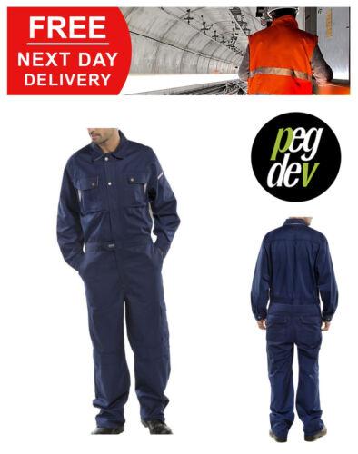 "Permium Workwear blu scuro con tuta globale Boilersuit TG 36-54/"" hgcpcn"