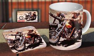Easy-Rider-Coffee-MUG-Wooden-Coaster-Gift-Set