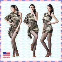 Scd7043ap (s-xxl) Women Ballroom Latin Rhythm Salsa Swing Dance Dress