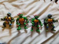 4x Vintage Playmates Teenage Mutant Ninja Turtles Figures Leonardo Raphael