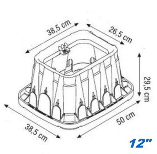 "14/"" Jumbo Ventilkasten Bewässerungsventile Hydranten//Ventil//Box# Ventilbox 12/"""