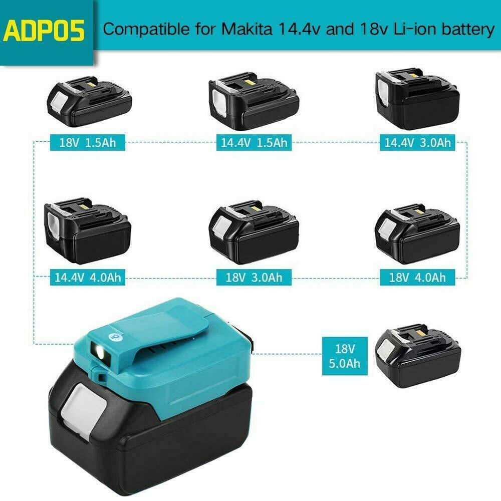 USB Power Charger Adapter Converter for MAKITA ADP05 14-18V