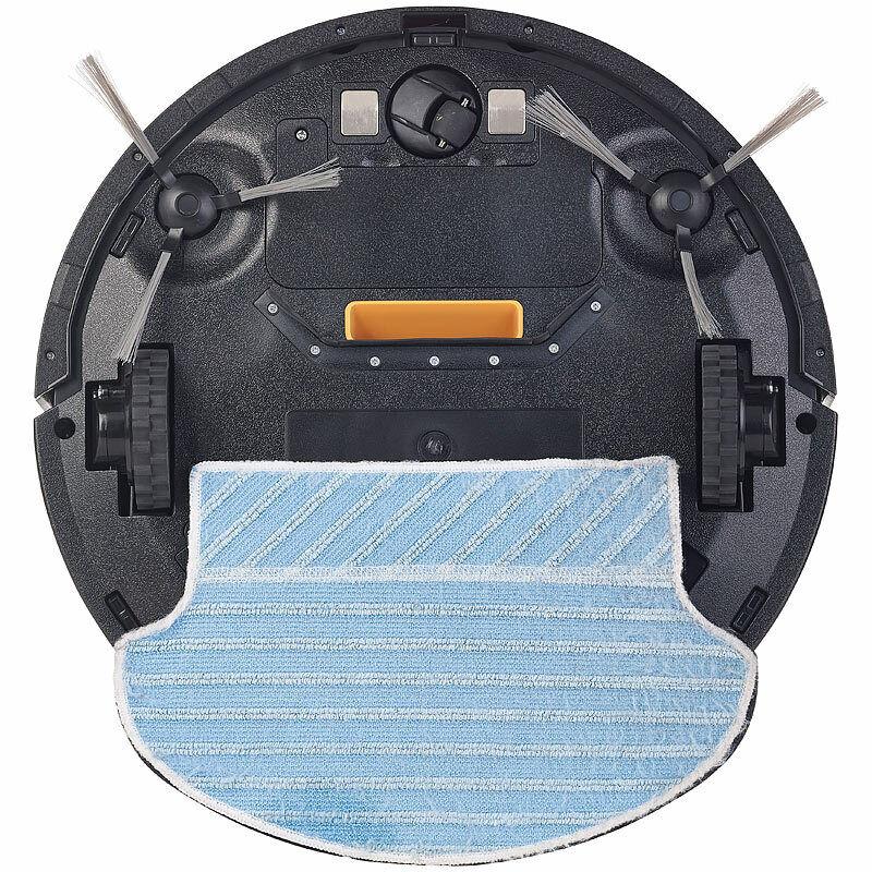 Sichler WLAN-Reinigungs-Roboter mit Wischfunktion & & & App, komp. zu Amazon Alexa f4ac21