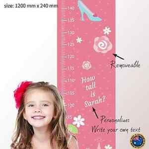 Personalised-FABRIC-Height-Growth-Chart-Pink-Princess-Castle-Design ...