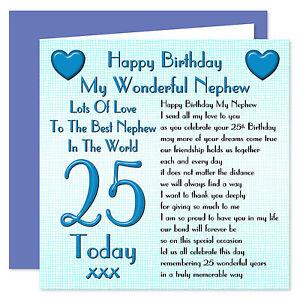 Image Is Loading My Wonderful Nephew Happy Birthday Card Age Range