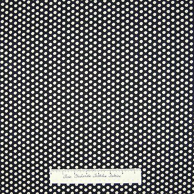 "Christmas Fabric - Holiday Dreams Black & Off White 1/4"" Polka Dot - RJR YARD"