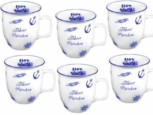 6 Stück Tasse Föhr Porzellan Pöttchen mini