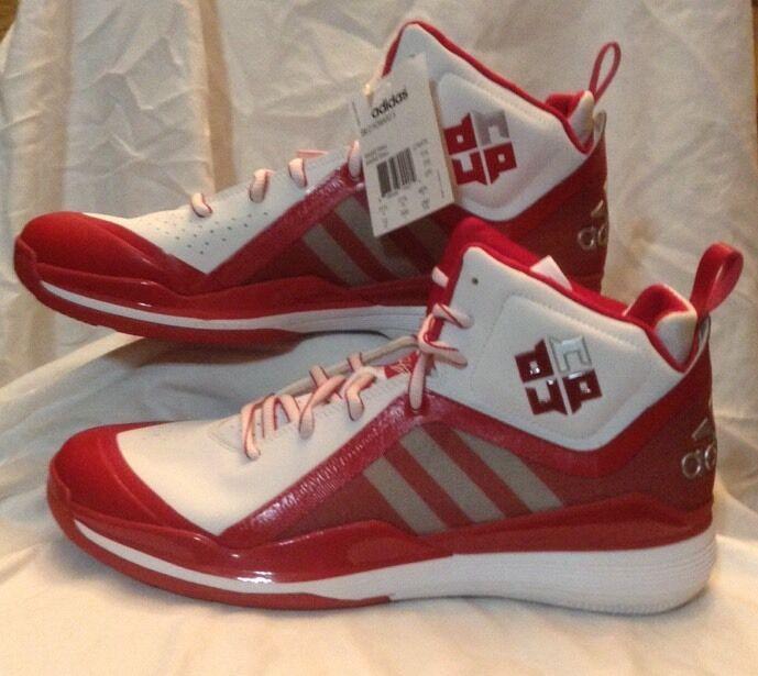 adidas d - 5 (weiß / rot) herren - sz basketball - schuhe c76375 sz - 12 11242c