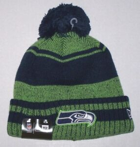 3da58ebc672 Nwt New Seattle Seahawks Logo NFL Football Beanie Cap Hat Rolled ...
