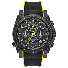 Bulova 98B312 Quartz Chronograph Black Rubber Strap Men's Watch