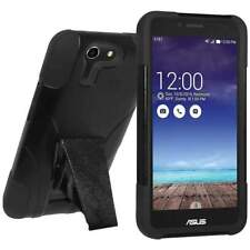 Amzer Black/ Black Double Layer Hybrid Case With Kickstand for ASUS PadFone X