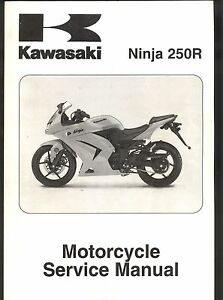 2008 kawasaki ninja 250r motorcycle service manual ebay rh ebay com Kawasaki Ninja 1000 2008 kawasaki ninja 250r owners manual download
