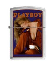 Zippo 4756 Playboy Cover-February 1986 Brushed Chrome Lighter