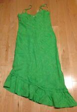 NWOT Banana Republic Dress - Asymetrical Hem - Linen - Green - Size 10 Flamenco