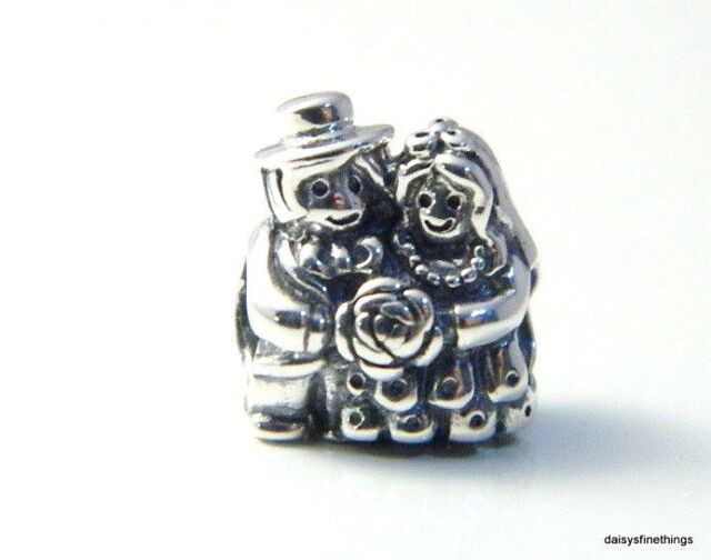 5a93d0b60 NEW/TAGS AUTHENTIC PANDORA SILVER CHARM MR AND MRS BRIDE AND GROOM #791116