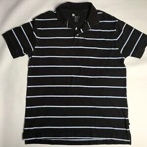 cd486eeba25b Gap Polo Shirt Mens Size Medium Brown Blue Striped Cotton Short ...