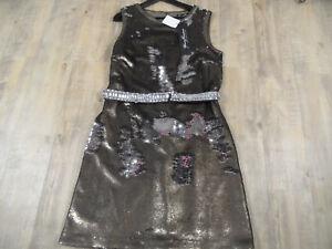 Neu Scm318 42 Schwarzer Gr Bronze Young Paillettenkleid Couture Barbara 8c6cq0Z