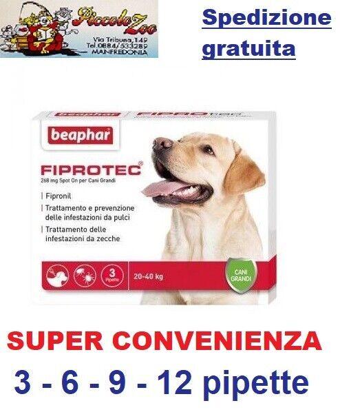 Beaphar Fiprotec antiparassitario per cane piccolo 2040kg 3 6 9 12 pipette