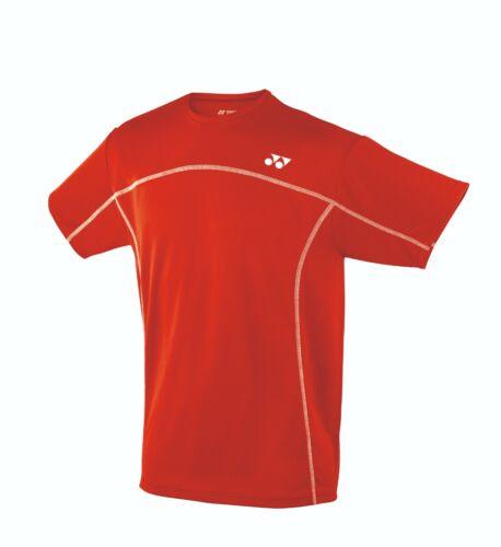 Red Yonex YTM1 Men/'s Training Shirt Badminton