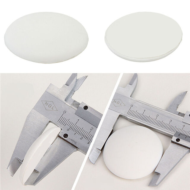 2x Round Wall Protector Self Adhesive Door Handle Bumper Guard Stopper Rubber UV