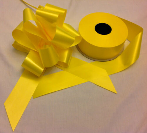 Large Bows 7m Ribbon 19 Colours Available Wedding Car Decorations Kit