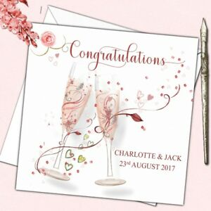 Personalised Wedding Anniversary Engagement Congratulations Card